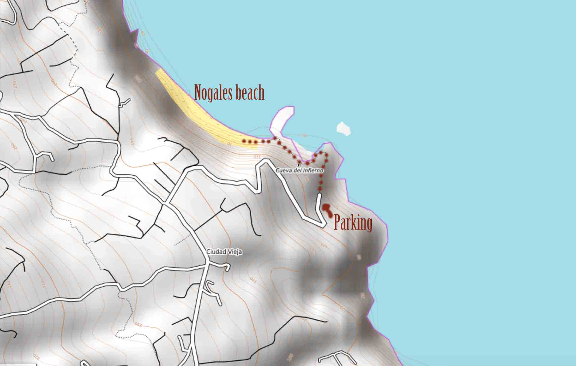 nogales-beach-map