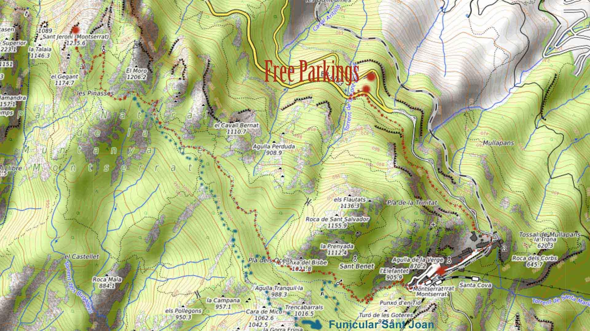 hiking-map-ant-jeroni-montserrat