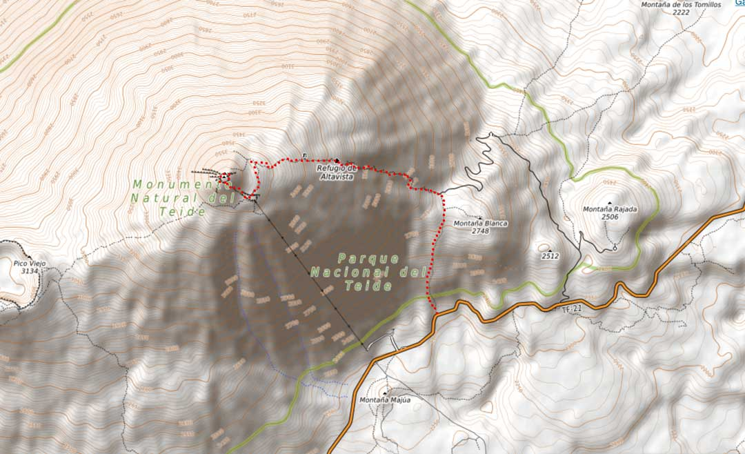 climbing-mount-teide-hiking-map